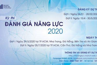 ĐHQG-HCM CHÍNH THỨC MỞ CỔNG ĐĂNG KÝ THI ĐÁNH GIÁ NĂNG LỰC ĐỢT 1 – 2020